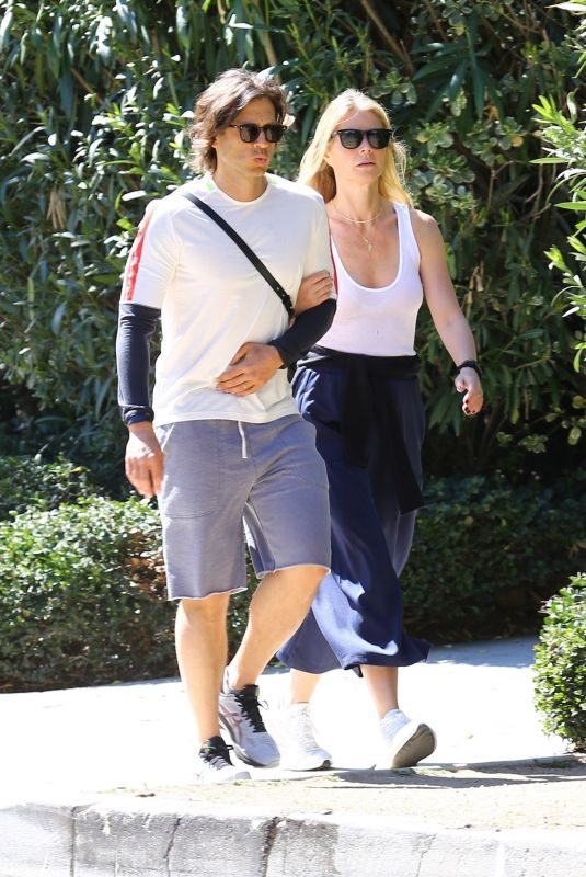 GWYNETH PALTROW and Brad Falchuk Out in Brentwood 03/08/2020