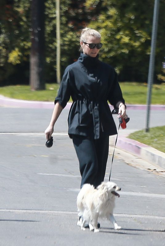 GWYNETH PALTROW Out with Her Dog in Los Angeles 03/29/2020
