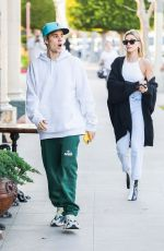 HAILEY and Justin BIEBER Arrives at Pecorino in Los Angeles 02/29/2020