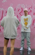 HAILEY and Justin BIEBER at Super Clean Car Wash in Los Angeles 03/13/2020