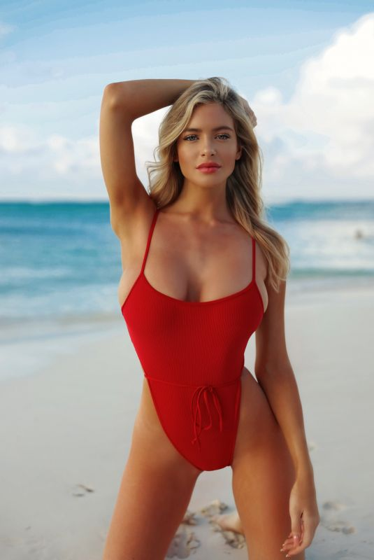HANNAH PALMER in a Red Swimsuit – Instagram Photos and Video 03/04/2020