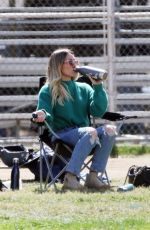 HILARY DUFF and Mike Comrie at Their Son