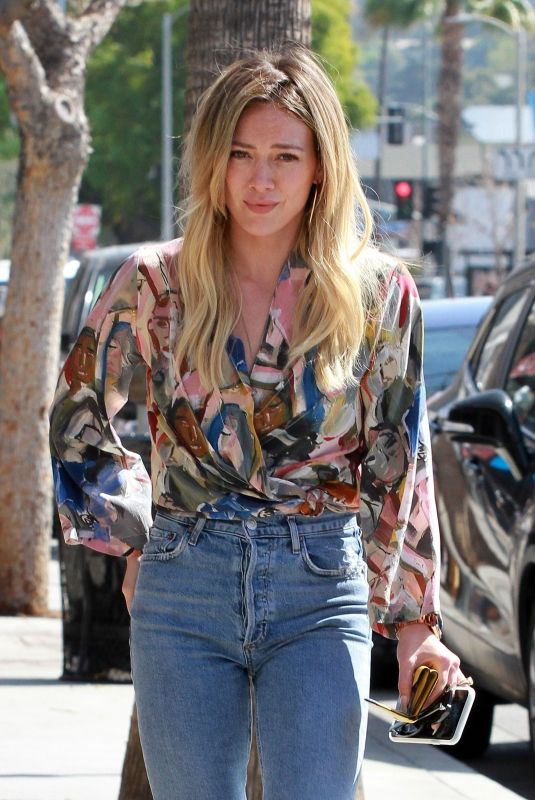 HILARY DUFF Arrives at Alfred's in Studio City 03/04/2020