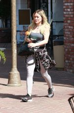 HILARY DUFF Leaves a Gym in Studio City 03/06/2020
