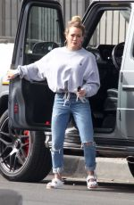 HILARY DUFF Out and About in Studio City 03/01/2020