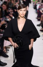 IRINA SHAYK at Valentino Runway Showat Paris Fashion Week 03/01/2020