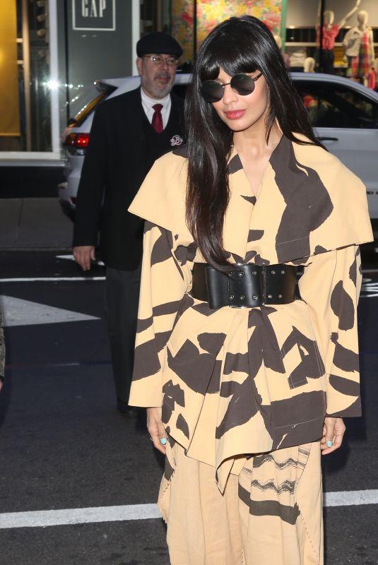 JAMEELA JAMIL Arrives at Good Morning America in New York 03/10/2020