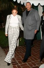 JENNIFER LOPEZ and Alex Rodriguez Leaves San Vicente Bungalows in West Hollywood 03/14/2020
