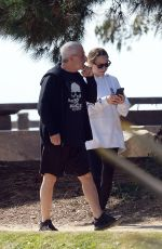JENNIFER MEYER Out with Her Father Ronald in Los Angeles 03/29/2020