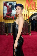JESSICA HENWICK at Mulan Premiere in Hollywood 03/09/2020