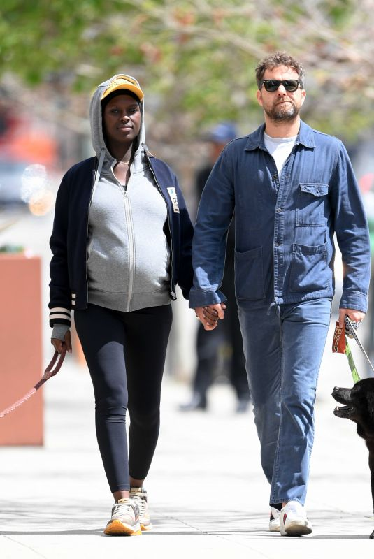 JODIE TURNER-SMITH and Joshua Jackson Out with Their Out with Their Dog in Los Angeles 03/25/2020