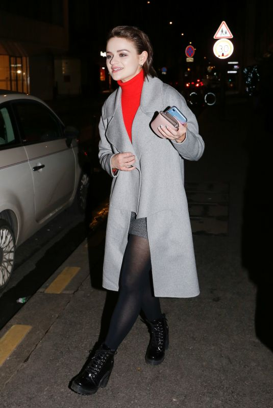 JOEY KING Night Out in Paris 02/29/2020