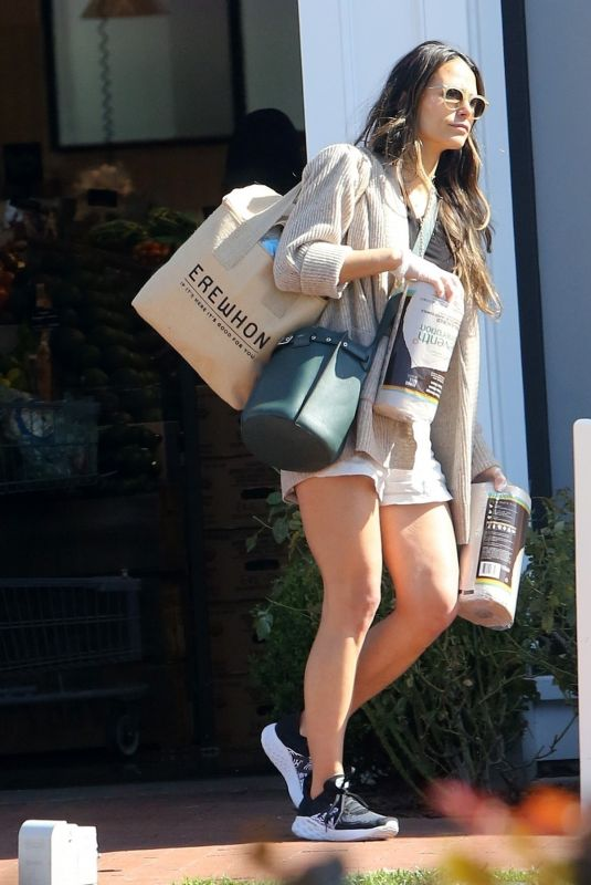 JORDANA BREWSTER in Shorts Out Shopping in Pacific Palisades 03/21/2020