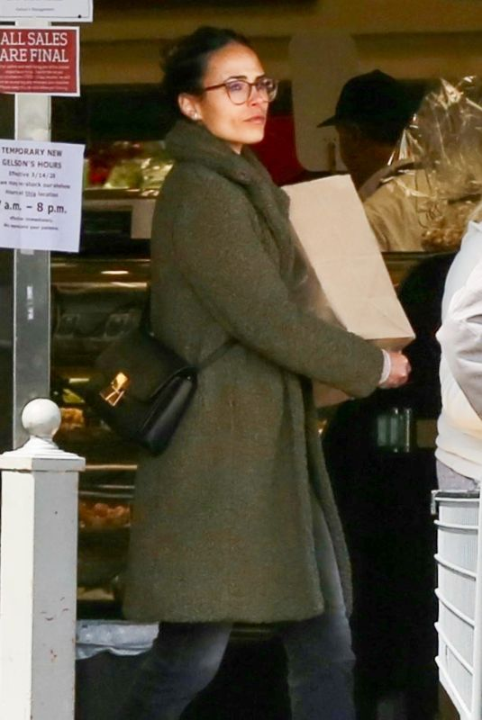 JORDANA BREWSTER Shopping at Gelson's Market in Pacific Palisades 03/17/2020