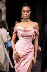 JOURDAN DUNN Arrives at Vivienne Westwood Show at Paris Fashion Week 02/29/2020