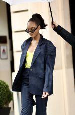 JOURDAN DUNN Leaves Royal Monceau Hotel in Paris 02/29/2020