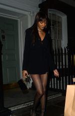 JOURDAN DUNN Leaves Soho House Dean Street in London 03/10/2020