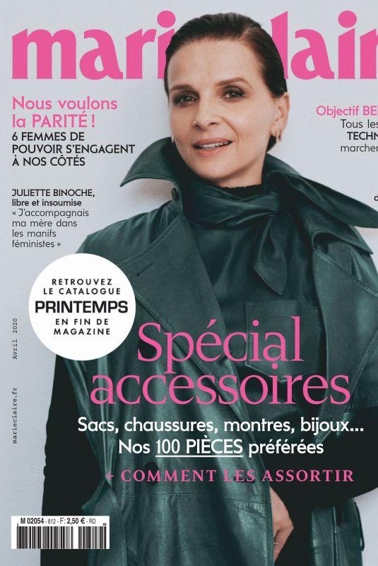 JULIETTE BINOCHE in Marie Claire Magazine, France April 2020