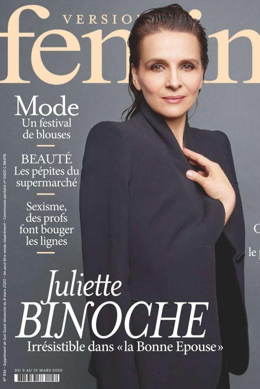 JULIETTE BINOCHE in Version Femina Magazine, March 2020