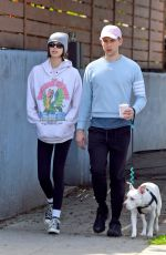 KAIA GERBER and Tommy Dorfman Out with Their Dog in Los Angeles 03/21/2020