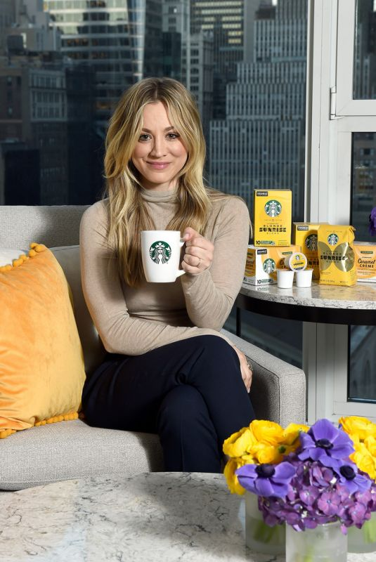 KALEY CUOCO for Starbucks Shine from the Start Spring Campaign in New York 03/09/2020