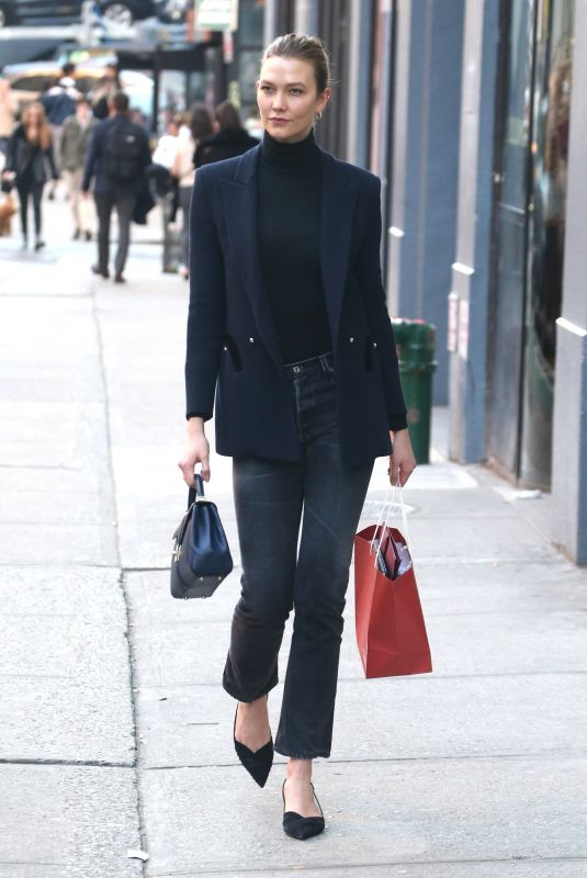 KARLIE KLOSS Out in New York 03/09/2020