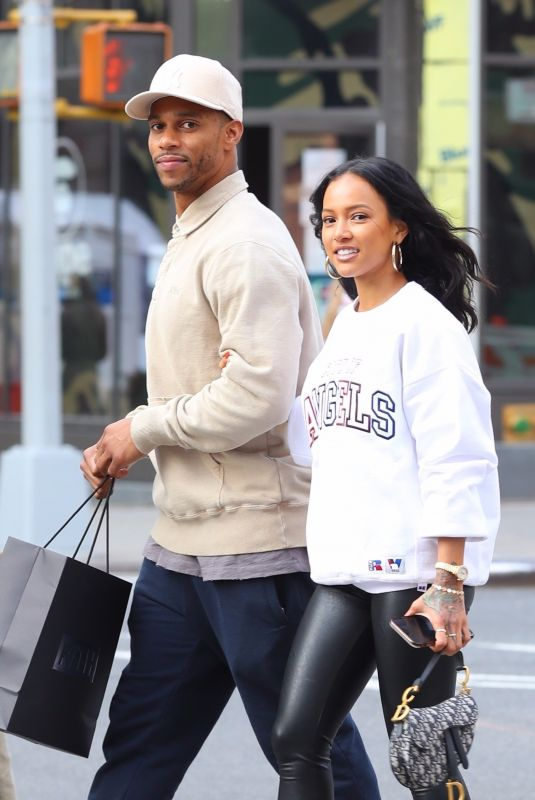 KARRUECHE TRAN and Victor Cruz Out Shopping in New York 03/05/2020