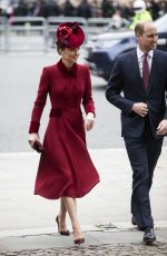 KATE MIDDLETON at Commonwealth Service at Westminster Abbey 03/09/2020