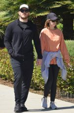 KATHERINE SCHWARZENEGGER and Chris Pratt Hold Hands Out in Santa Monica 03/18/2020