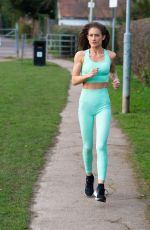KATIE WAISSEL Working Out at a Park a London 02/20/2020