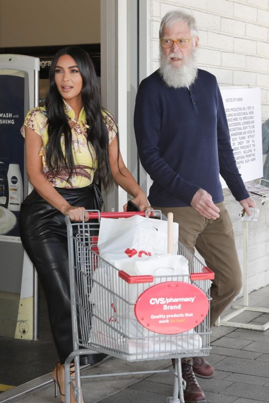 KIM KARDASHIAN and David Letterman Shopping at CVS in Calabasas 03/05/2020