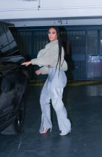 KIM KARDASHIAN Heading to The Yeezy Season 8 Show in Paris 03/02/2020