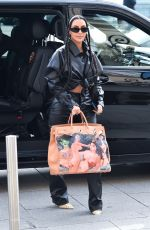 KIM KARDASHIAN Out and About in Paris 03/03/2020
