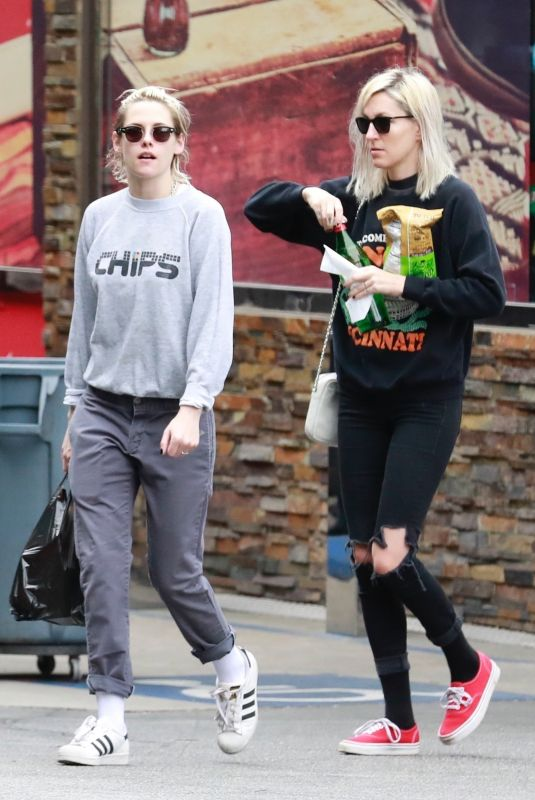 KRISTEN STEWART and DYLAN MEYER Out in Los Feliz 03/09/2020