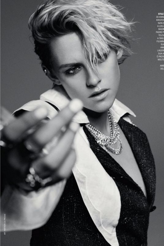 KRISTEN STEWART in Marie Claire Magazine, Italy April 2020