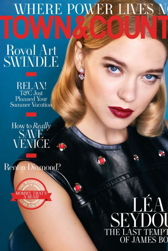 LEA SEYDOUX in Town & Country Magazine, April 2020