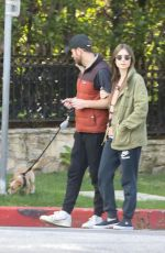 LILY COLLINS and Charlie McDowell Out for Her 31st Birthday in Los Angeles 03/18/2020