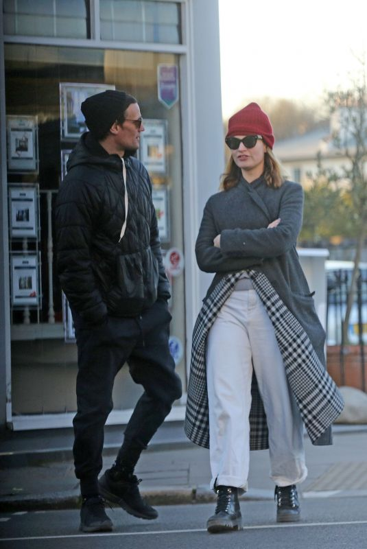 LILY JAMES and Matt Smith Out in London 03/29/2020