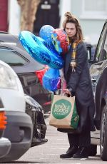 LILY JAMES Out and About in London 03/23/2020