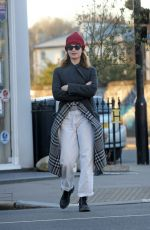 LILY JAMES Out and About in London 03/29/2020