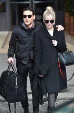 LUCY BOYNTON and Rami Malek Leaves Hotel de Crillon in Paris 02/29/2020