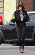 LUCY HALE Leaves Alfred Coffee in Studio City 03/09/2020