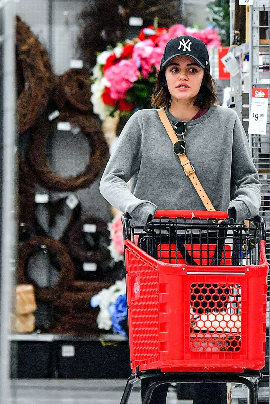 LUCY HALE Out Shopping in Studio City 03/19/2020