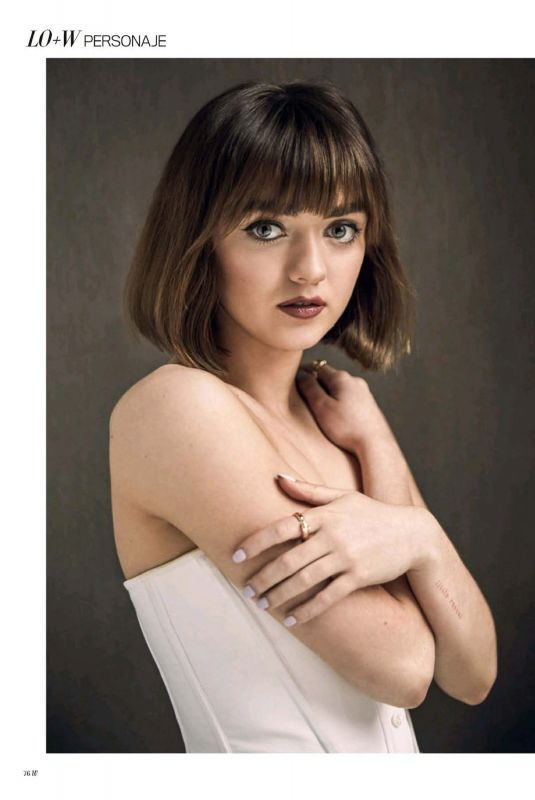 MAISIE WILLIAMS in Madame Figaro Magazine, Spain 2020