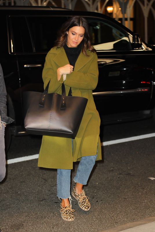 MANDY MOORE Arrives at Her Hotel in New York 03/14/2020