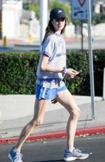 MARGARET QUALLEY in Shorts Out in Los Angeles 03/20/2020