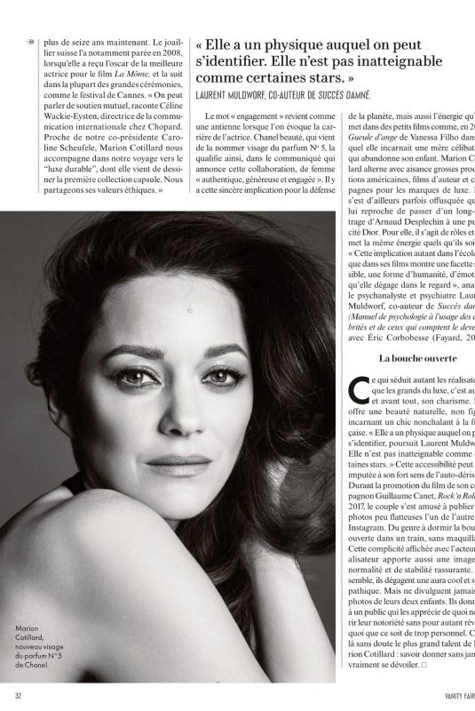 MARION COTILLARD in Vanity Fair Magazine, France April 2020