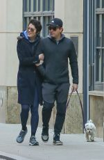 MARY ELIZABETH WINSTEAD and Ewan McGregor Out with Their Dog in New York 03/04/2020