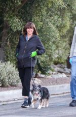 MARY STEENBURGGEN and Ted Danson Out with Their Dog in Los Angeles 03/30/2020