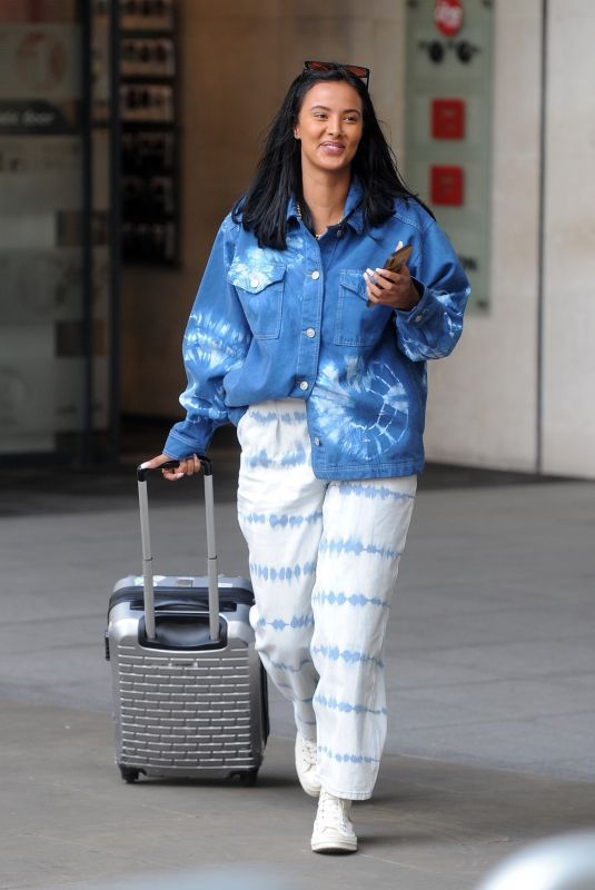 MAYA JAMA Leaves BBC Radio One in London 03/13/2020
